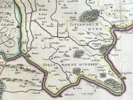 MIDDLESEX, MIDDLE- SEXIA, LONDON, BLAEU Original antique hand coloured map 1662